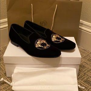 Versace men's velvet smoking slippers